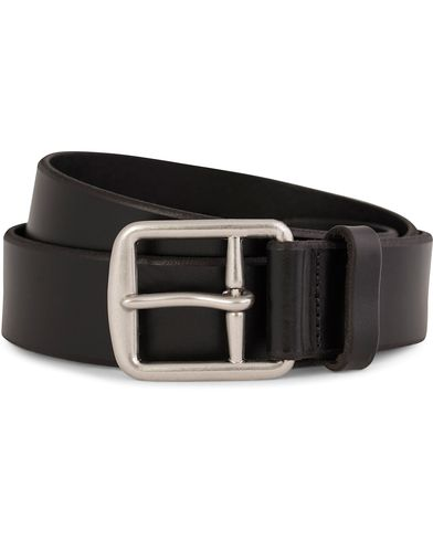 Polo Ralph Lauren Belt 3,5 cm Casual Harnest Saddle Black i gruppen Accessoarer / Bälten / Släta bälten hos Care of Carl (10890011r)