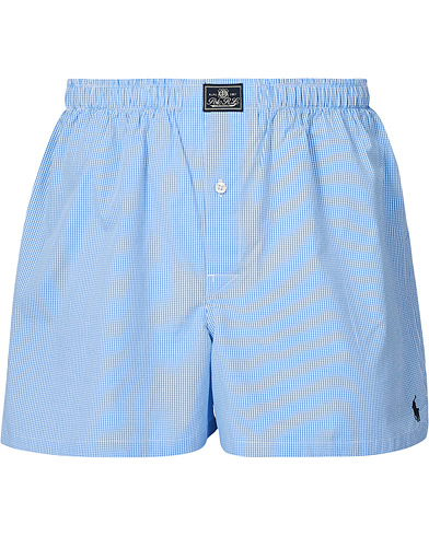 Polo Ralph Lauren Woven Boxer Blue Gingham Blue i gruppen Klær / Undertøy hos Care of Carl (10891511r)