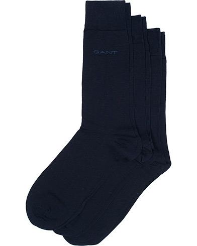 GANT 3-Pack Solid Jersey Socks Navy  i gruppen Undertøj / Strømper / Almindelige sokker hos Care of Carl (10938810)