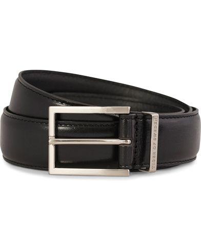 Tiger of Sweden Gianluca Leather Belt 3,5 cm Black i gruppen Tilbehør / Bælter / Glatte bælter hos Care of Carl (10964511r)