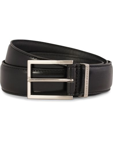 Tiger of Sweden Gianluca Leather Belt 3,5 cm Black i gruppen Accessoarer / Bälten / Släta bälten hos Care of Carl (10964511r)