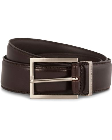 Tiger of Sweden Gianluca Leather Belt 3,5 cm Brown i gruppen Tilbehør / Bælter / Glatte bælter hos Care of Carl (10964611r)