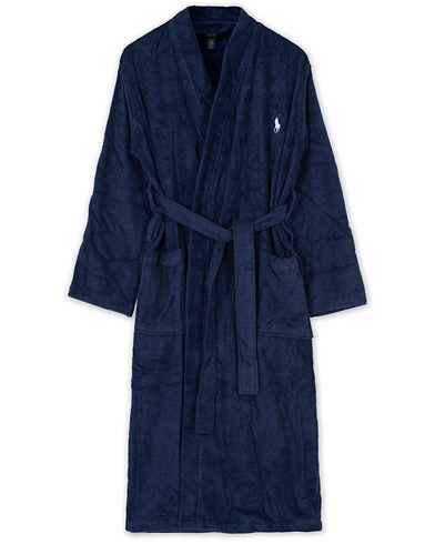 Polo Ralph Lauren Light Terry Kimono Robe Cruise Navy i gruppen Kläder / Underkläder / Morgonrockar hos Care of Carl (10970611r)