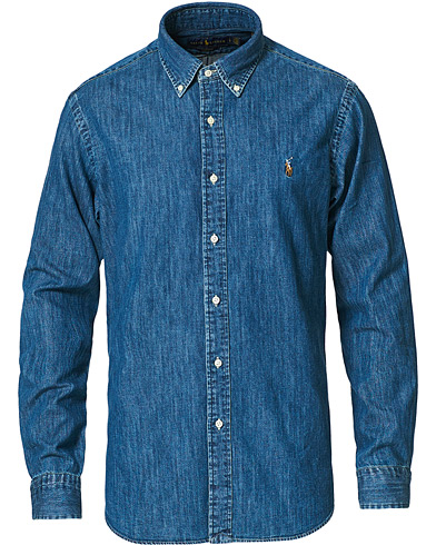 Polo Ralph Lauren Core Fit Shirt Denim Dark Wash i gruppen Tøj / Skjorter / Denimskjorter hos Care of Carl (10976511r)