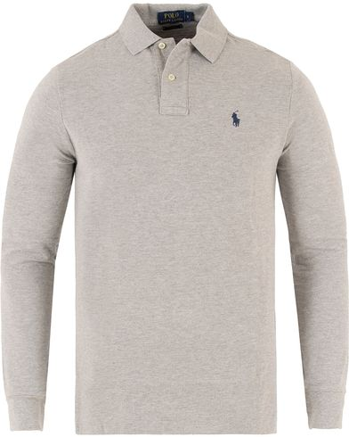 Polo Ralph Lauren Long Sleeve Custom Fit Piké Andover Heather i gruppen Klær / Pikéer / Langermet piké hos Care of Carl (10994011r)