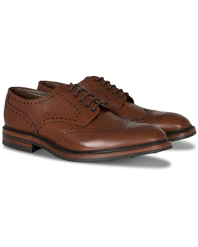 Loake 1880 Badminton Brogue Dark Brown Grain i gruppen Sko / Brogues hos Care of Carl (10995611r)