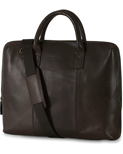 Oscar Jacobson Breifcase 13'' Laptop Dark Brown i gruppen V�skor / Portf�ljer hos Care of Carl (10997810)