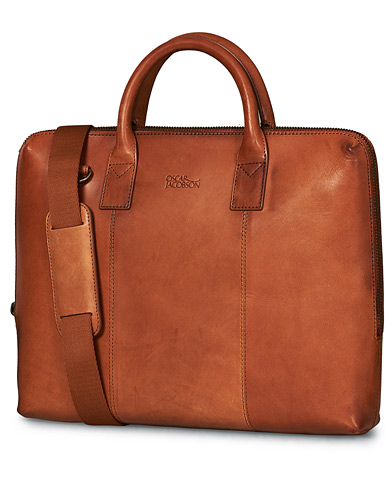 Oscar Jacobson Breifcase 13'' Laptop Tan i gruppen Vesker / Dokumentvesker hos Care of Carl (10997910)