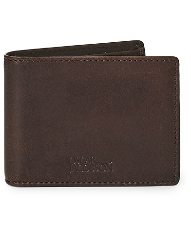Oscar Jacobson Leather Wallet Dark Brown  i gruppen Assesoarer / Lommebøker / Vanlige lommebøker hos Care of Carl (10998310)