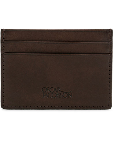 Oscar Jacobson Leather Wallet Dark Brown  i gruppen Accessoarer / Plånböcker / Korthållare hos Care of Carl (10998610)