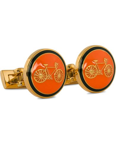 Skultuna Cuff Links Themocracy Gold/Orange  i gruppen Tilbehør / Manchetknapper hos Care of Carl (11003810)