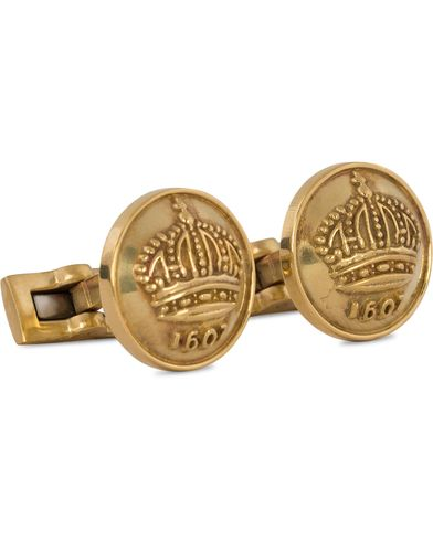 Skultuna Cuff links The Crown Raw Brass  i gruppen Assesoarer / Mansjettknapper hos Care of Carl (11004310)