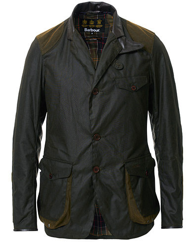 Barbour Heritage Beacon Sports Jacket Olive i gruppen Jakker / Voksede jakker hos Care of Carl (11008611r)