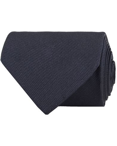 Amanda Christensen Plain Classic Tie 8 cm Navy  i gruppen Design A / Assesoarer / Slips hos Care of Carl (11009710)