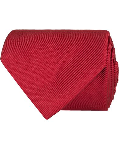 Amanda Christensen Plain Classic Tie 8 cm Wine  i gruppen Assesoarer / Slips hos Care of Carl (11010010)