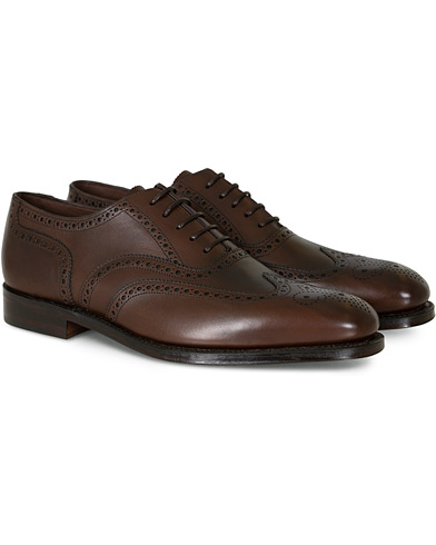 Loake 1880 Buckingham Brogue Dark Brown Calf i gruppen Skor / Brogues hos Care of Carl (11013811r)