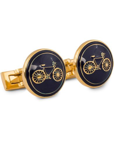 Skultuna Cuff Links Themocracy Gold/Blue  i gruppen Tilbehør / Manchetknapper hos Care of Carl (11016110)