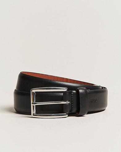 Polo Ralph Lauren Cowhide Belt 3 cm Black i gruppen Assesoarer / Belter / Umønstrede belter hos Care of Carl (11019511r)