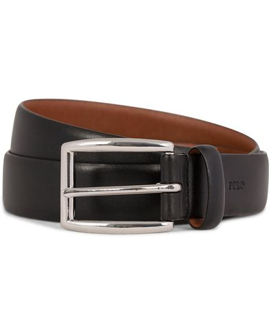 Polo Ralph Lauren Cowhide Belt 3 cm Black i gruppen Tilbehør / Bælter / Blanke bælter hos Care of Carl (11019511r)