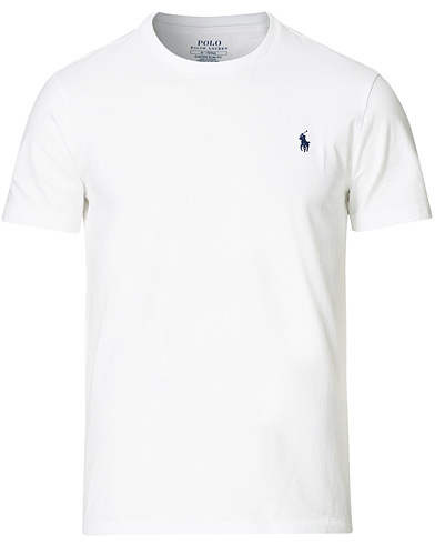 Polo Ralph Lauren Custom Fit Tee White i gruppen T-Shirts / Kortermede t-shirts hos Care of Carl (11107911r)