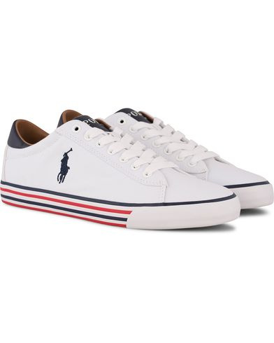 Polo Ralph Lauren Harvey-NE Sneaker Pure White i gruppen Sko / Sneakers / Sneakers med lavt skaft hos Care of Carl (11123111r)