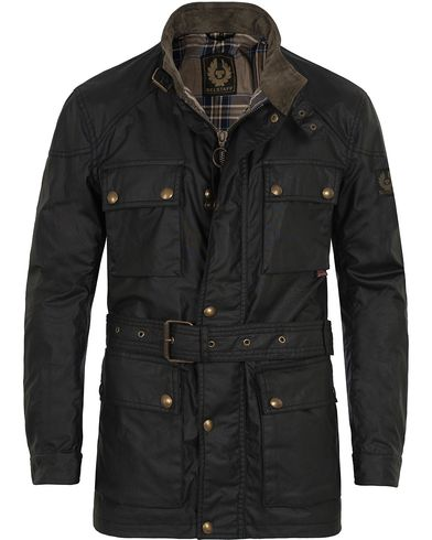 Belstaff Roadmaster Belted Jacket Black i gruppen Jakker / Voksede jakker hos Care of Carl (11128311r)