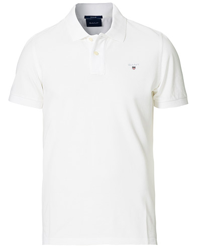 GANT The Original Polo White i gruppen Pikéer / Kortärmade pikéer hos Care of Carl (11138711r)
