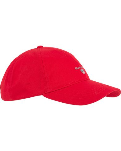 GANT Twill Cap Bright Red  i gruppen Accessoarer / Kepsar / Basebollkepsar hos Care of Carl (11142410)