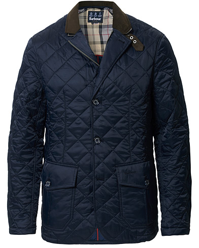 Barbour Lifestyle Dress Tartan Quilted Sander Jacket Navy i gruppen Klær / Jakker hos Care of Carl (11210211r)