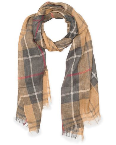 Barbour Tartan Linen Scarf Dress Tartan  i gruppen Design A / Accessoarer / Scarves hos Care of Carl (11211110)