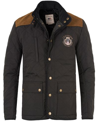 Lexington David Jacket Black i gruppen Jackor / Quiltade jackor hos Care of Carl (11237211r)