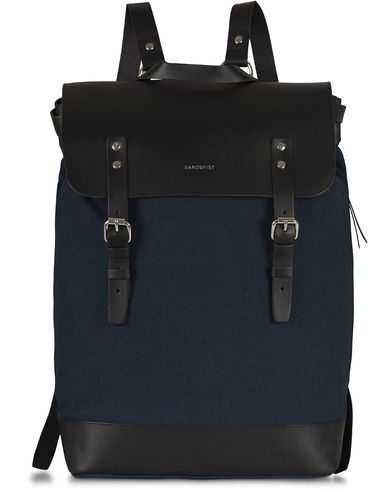 Sandqvist Hege Canvas Backpack Blue i gruppen Vesker / Ryggsekker hos Care of Carl (11255510)