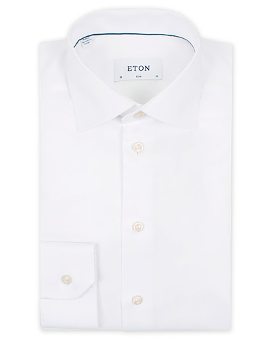 Eton Slim Fit Shirt White i gruppen Skjortor / Formella skjortor hos Care of Carl (11270811r)
