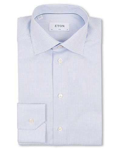 Eton Slim Fit Shirt Check Blue i gruppen Skjortor / Formella skjortor hos Care of Carl (11271011r)