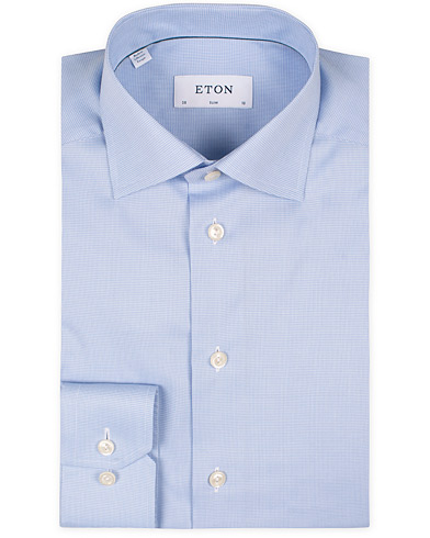 Eton Slim Fit Shirt Pepita Blue i gruppen Skjortor / Formella skjortor hos Care of Carl (11271111r)