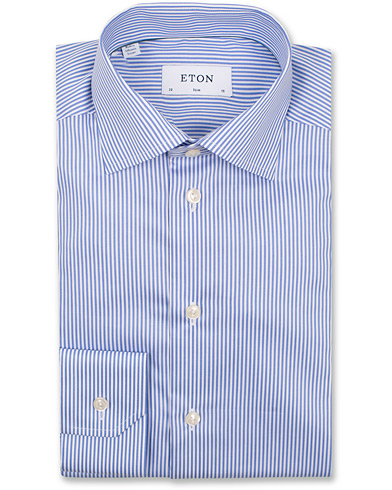 Eton Slim Fit Shirt Stripe Blue i gruppen Tøj / Skjorter / Formelle skjorter hos Care of Carl (11271211r)