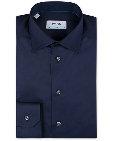 Eton Slim Fit Shirt Stretch Navy i gruppen Skjorter / Businesskjorter hos Care of Carl (11271311r)