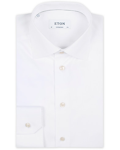 Eton Contemporary Fit Shirt White i gruppen Tøj / Skjorter / Formelle skjorter hos Care of Carl (11271411r)