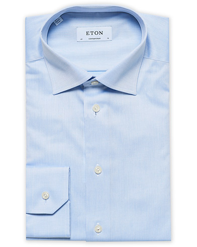 Eton Contemporary Fit Shirt Blue i gruppen Skjorter / Formelle skjorter hos Care of Carl (11271511r)
