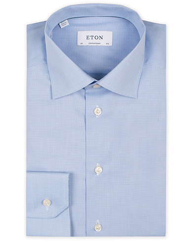 Eton Contemporary Fit Shirt Pepita Blue i gruppen Skjorter / Formelle skjorter hos Care of Carl (11271611r)