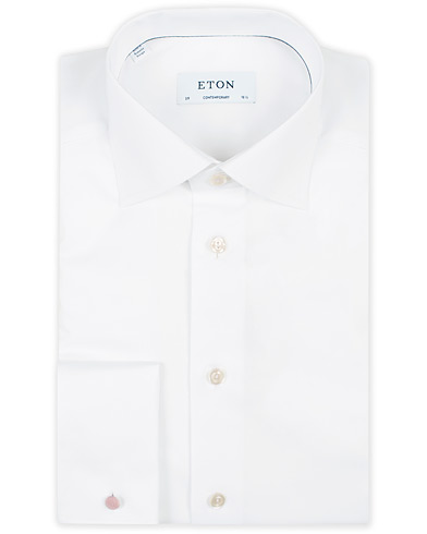 Eton Contemporary Fit Shirt Double Cuff White i gruppen Skjorter / Formelle skjorter hos Care of Carl (11271911r)