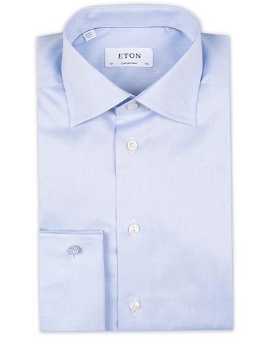 Eton Contemporary Fit Shirt Double Cuff Blue i gruppen Skjorter / Formelle skjorter hos Care of Carl (11272011r)