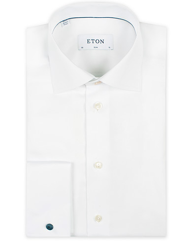 Eton Slim Fit Shirt Double Cuff White i gruppen Skjortor / Formella skjortor hos Care of Carl (11272111r)