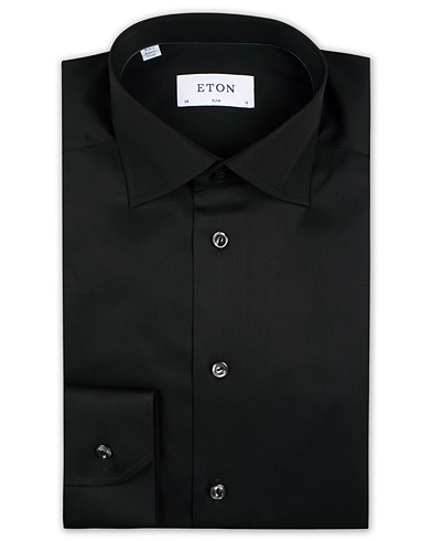 Eton Slim Fit Shirt Black i gruppen Skjortor / Formella skjortor hos Care of Carl (11273611r)