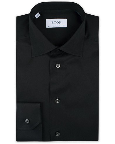 Eton Contemporary Fit Shirt Black i gruppen Skjorter / Formelle skjorter hos Care of Carl (11273711r)