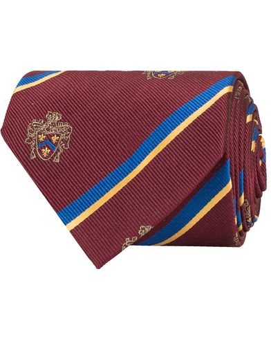 Morris Club Tie 8 cm Wine Red  i gruppen Tilbehør / Slips hos Care of Carl (11287010)