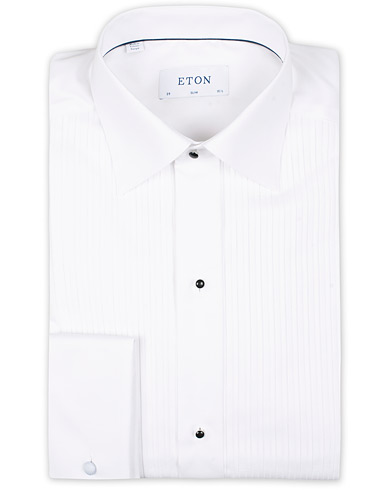Eton Slim Fit Tuxedo Shirt Black Ribbon White i gruppen Kläder / Skjortor / Smokingskjortor hos Care of Carl (11310111r)