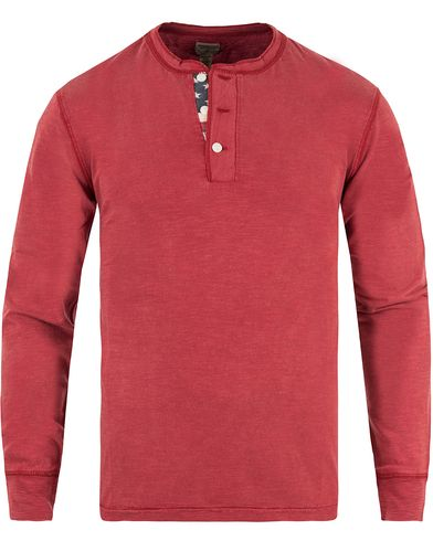 Denim & Supply Ralph Lauren Henley Flag Placket Sailor Red i gruppen Klær / Gensere / Bestefartrøyer hos Care of Carl (11409411r)