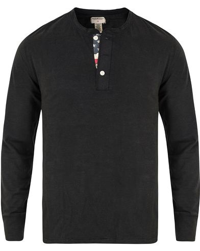 Denim & Supply Ralph Lauren Henley Flag Placket Faded Black i gruppen Tøj / Trøjer / Bedstefartrøjer hos Care of Carl (11409611r)