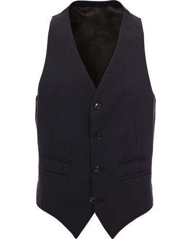 Tiger of Sweden Jeds Waistcoat Black i gruppen Kavajer / V�star hos Care of Carl (11437111r)